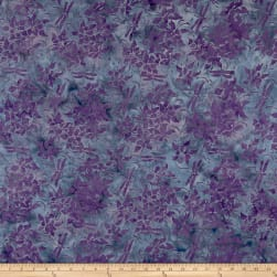 Island Batik Mountain's Majesty Columbine-Lilac Fabric