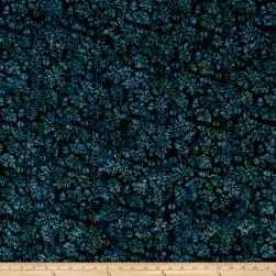 Island Batik Pumpkin Patch Acorn Teal Fabric