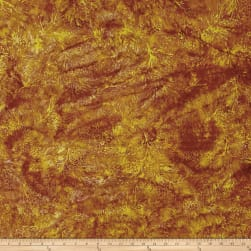 Island Batik Pumpkin Patch Pinecone Copper Fabric