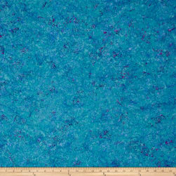 Island Batik Southern Blooms Butterflies Turquoise Fabric