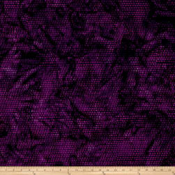 Island Batik Sunflower Seranade Dot Purple Fabric