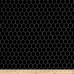 Loralie Designs Chicken Chique Wire Black Fabric