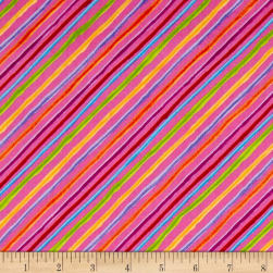 Loralie Designs Happy Camper Calico Stripe Pink
