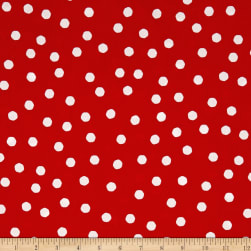 Loralie Designs Happy Camper Jumbo Dots Red/White Fabric