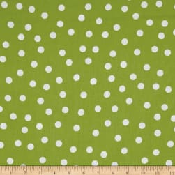 Loralie Designs Happy Camper Jumbo Dots Green/White Fabric