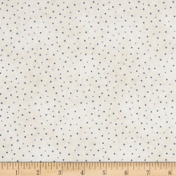 Roly-Poly Snowmen Sprinkled Dots Natural/Blue Fabric