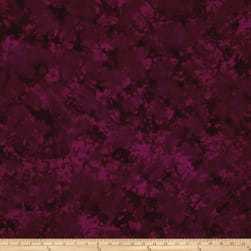 Batik Cotton Basics Plum Fabric