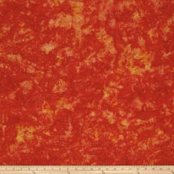 Batik Cotton Blenders Dandelion Pumpkin Fabric