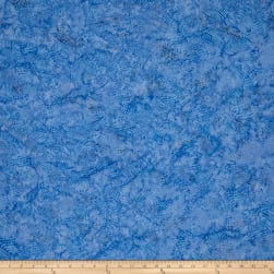 Batik Cotton Blenders Wavy Dots Bluebird Fabric