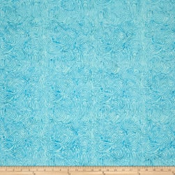 Batik Cotton Blenders Marble Aqua Fabric