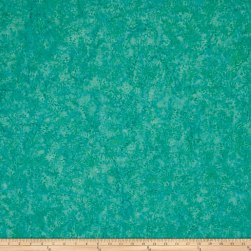 Island Batik Blenders Small Pointed Floral Turquoise Fabric