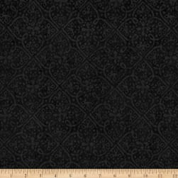 Maywood Studio Paradise Embossed Tonal Charcoal Fabric