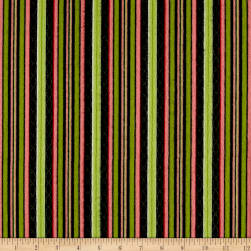 Maywood Studio Sweet Pea Flannel Stripe Black Fabric