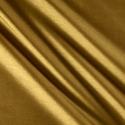 Worldly Faux Dupioni Silk Brass Fabric