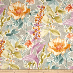 P/Kaufmann Cut Flowers Silver Fabric