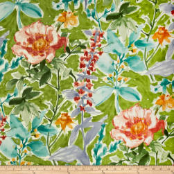 P/Kaufmann Cut Flowers Spring Green Fabric