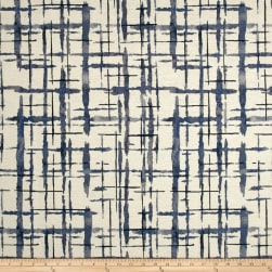 P/Kaufmann Abstraction Chenille Jacquard Indigo Fabric