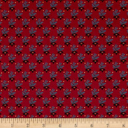 Paula Barnes Bristle Creek Farmhouse Meadow Flower Red