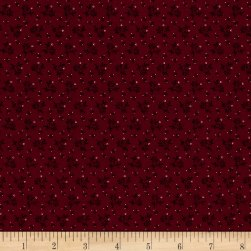 Pam Buda Prairie Basics Country Bloom Red Fabric