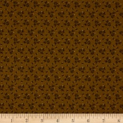 Pam Buda Prairie Basics Country Bloom Brown Fabric