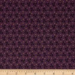 Pam Buda Prairie Basics Country Bloom Purple Fabric