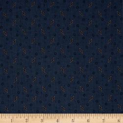 Pam Buda Prairie Basics Ditsy Twist Blue Fabric