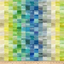 Laura Berringer Color Moods Mini Squares Blues Fabric