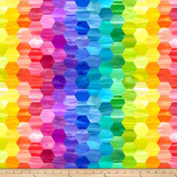 Laura Berringer Color Moods Mini Hexies Bright Fabric