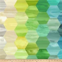 Laura Berringer Color Moods Hexies Blues Fabric