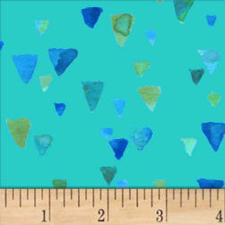 Nancy Rink Sea Glass Shards Med Blue Fabric