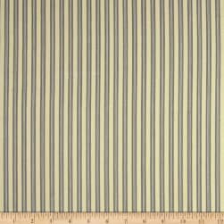 Ticking Stripe Basic Staple Grey Fabric