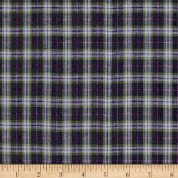 Rustic Wovens Small Plaid Navy/Blue/Purple/Green Fabric