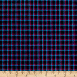 Rustic Wovens Plaid Navy/Fuch/Light Turquoise Fabric
