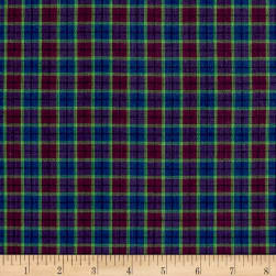 Rustic Wovens Plaid Purple/Fuch/Lime Fabric
