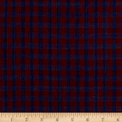 Rustic Wovens Check Navy/Wine Fabric