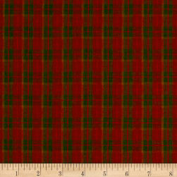 Rustic Wovens Small Plaid Olive/Wine/Orange Fabric