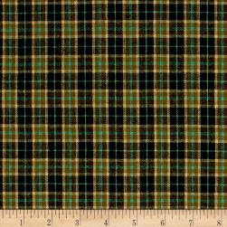 Rustic Wovens Small Plaid Black/Brown/Aqua Fabric