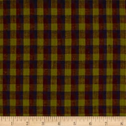 Rustic Wovens Check Olive/Navy/Wine Fabric