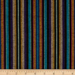 Yarn Dyed Shirting Narrow Stripe Black Multi Fabric