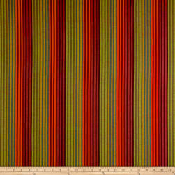 Yarn Dyed Shirting Stripe Orange/Wine Fabric