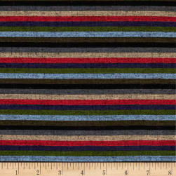 Yarn Dyed Shirting Thin Stripe Navy/Red/Olive/Khaki Fabric