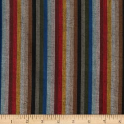 Yarn Dyed Shirting Thin Stripe Wine/Red/Brwn/Black Fabric
