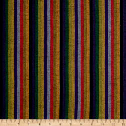 Yarn Dyed Shirting Thin Stripe Blue/Multi Fabric