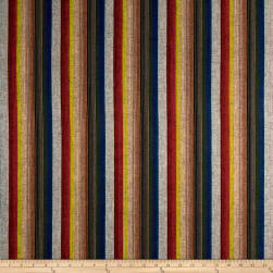 Yarn Dyed Shirting Wide Stripe Wine/Red/Brown/Black Fabric