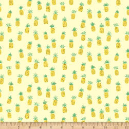 Dear Stella Jersey Knit Pineapples Lemon Fabric