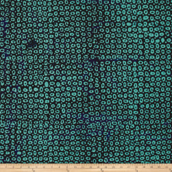 Delmar Batiks Ethnic Patch Teal/Navy Fabric