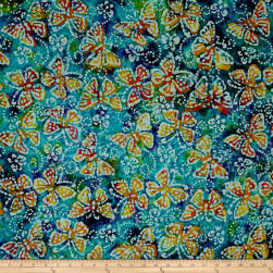Jewel Box Batiks Butterfly Blu/Prp/Grn Fabric