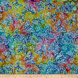 Jewel Box Batiks Butterfly Multi Fabric