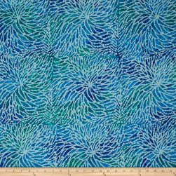 Sarasota Spray Batiks Blue/Green Fabric