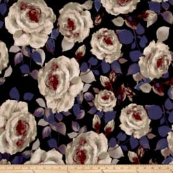 Liverpool Knit Roses Taupe on Hunter Fabric